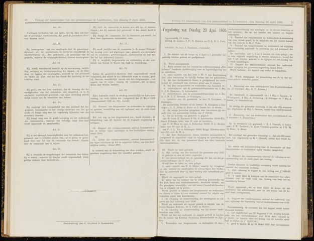Raadsverslagen van de gemeente Leeuwarden, 1865-2007 (Notulen) 1895-04-23