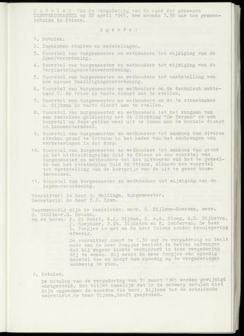 Notulen van de gemeenteraad van Leeuwarderadeel 1965-04-22