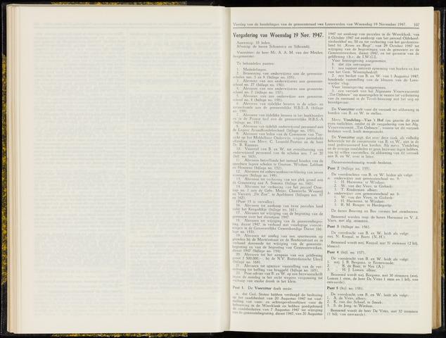 Raadsverslagen van de gemeente Leeuwarden, 1865-2007 (Notulen) 1947-11-19