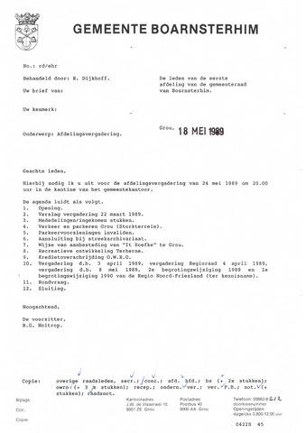 Boarnsterhim vergaderstukken gemeenteraad  1989-05-24