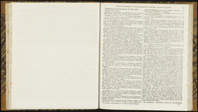 Raadsverslagen van de gemeente Leeuwarden, 1865-2007 (Notulen) 1878-07-25