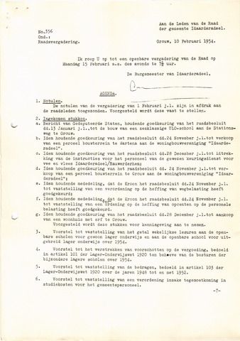 raadsverslagen Idaarderadeel 1935-1983 1954-02-14