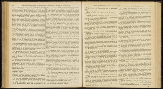 Raadsverslagen van de gemeente Leeuwarden, 1865-2007 (Notulen) 1884-11-13