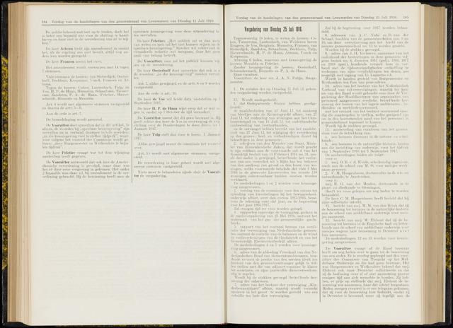 Raadsverslagen van de gemeente Leeuwarden, 1865-2007 (Notulen) 1916-07-25