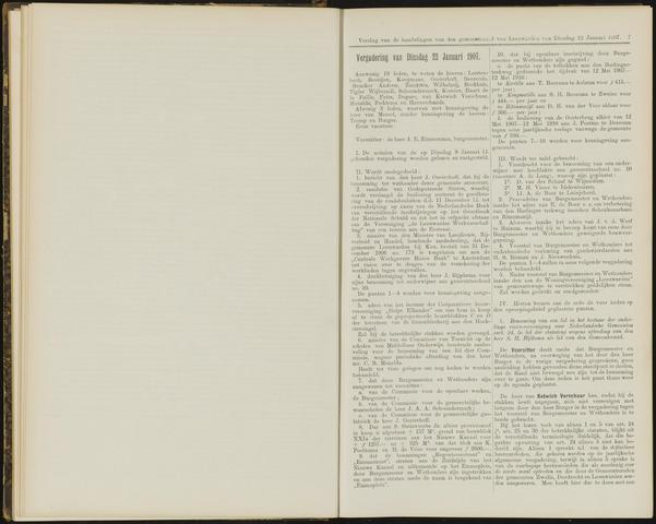 Raadsverslagen van de gemeente Leeuwarden, 1865-2007 (Notulen) 1907-01-22
