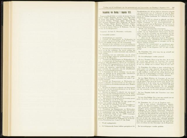 Raadsverslagen van de gemeente Leeuwarden, 1865-2007 (Notulen) 1933-08-01