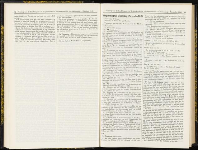 Raadsverslagen van de gemeente Leeuwarden, 1865-2007 (Notulen) 1948-11-03