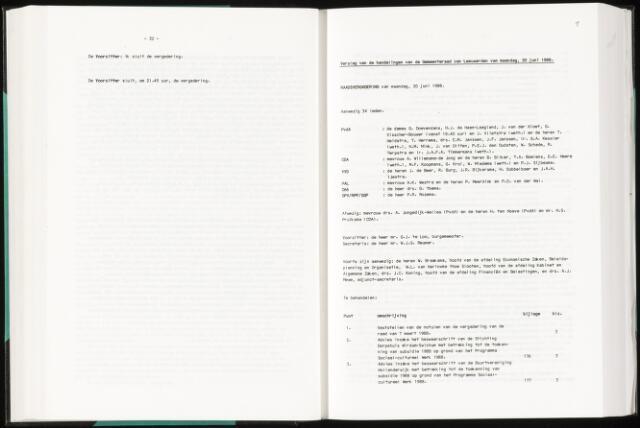 Raadsverslagen van de gemeente Leeuwarden, 1865-2007 (Notulen) 1988-06-20
