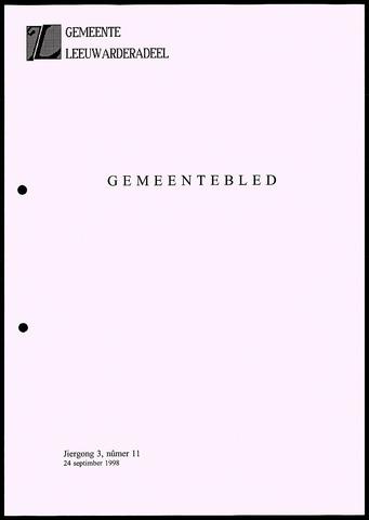 Notulen van de gemeenteraad van Leeuwarderadeel 1998-09-24