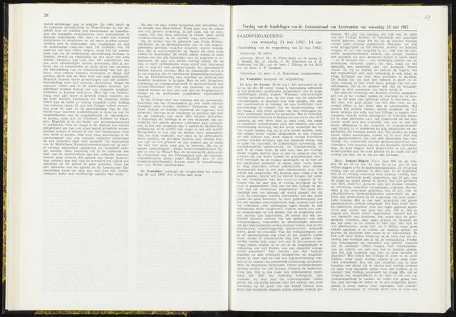 Raadsverslagen van de gemeente Leeuwarden, 1865-2007 (Notulen) 1967-05-24