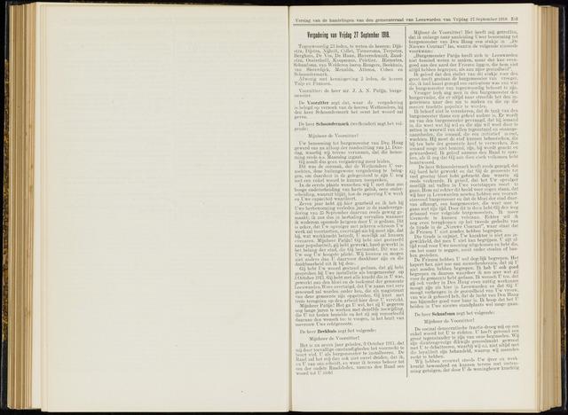 Raadsverslagen van de gemeente Leeuwarden, 1865-2007 (Notulen) 1918-09-27