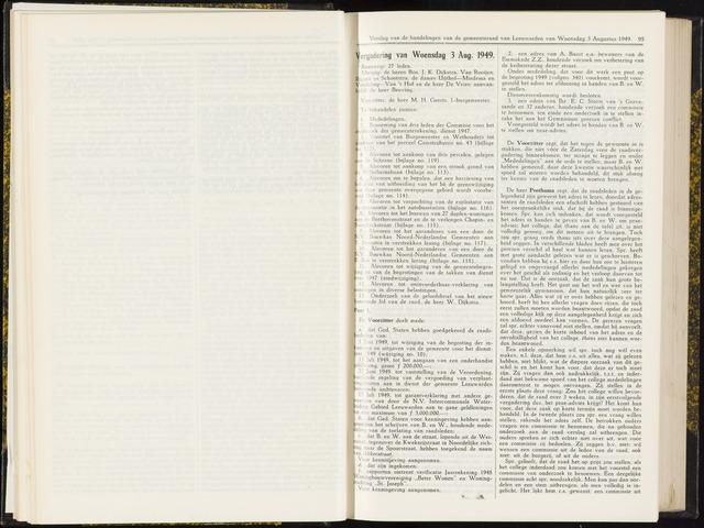 Raadsverslagen van de gemeente Leeuwarden, 1865-2007 (Notulen) 1949-08-03