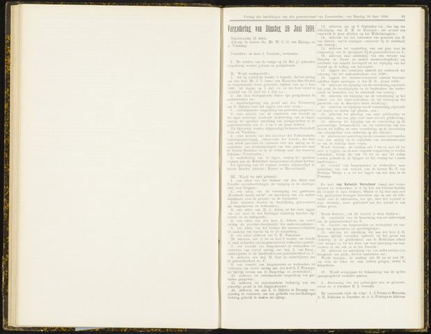 Raadsverslagen van de gemeente Leeuwarden, 1865-2007 (Notulen) 1898-06-28
