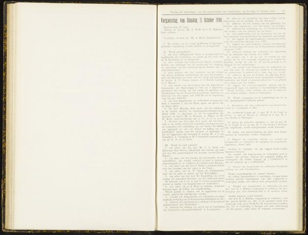 Raadsverslagen van de gemeente Leeuwarden, 1865-2007 (Notulen) 1898-10-11