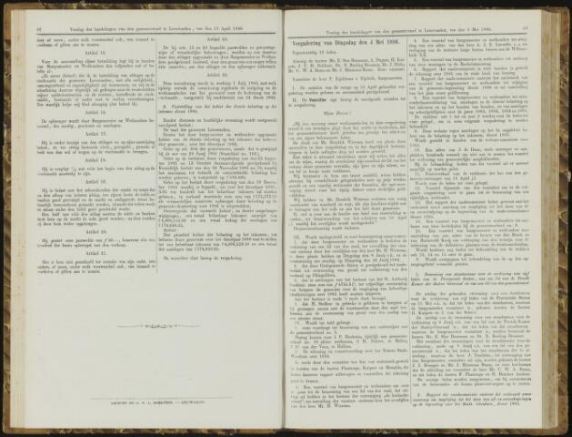 Raadsverslagen van de gemeente Leeuwarden, 1865-2007 (Notulen) 1886-05-04