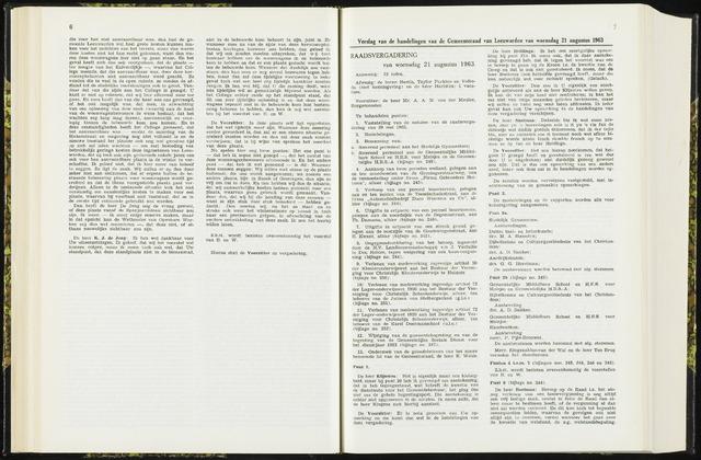 Raadsverslagen van de gemeente Leeuwarden, 1865-2007 (Notulen) 1963-08-21