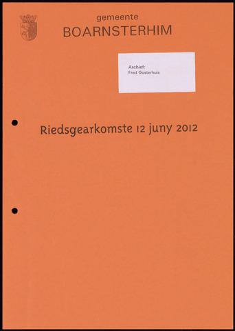 Boarnsterhim vergaderstukken gemeenteraad  2012-06-12