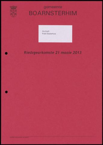 Boarnsterhim vergaderstukken gemeenteraad  2013-05-21