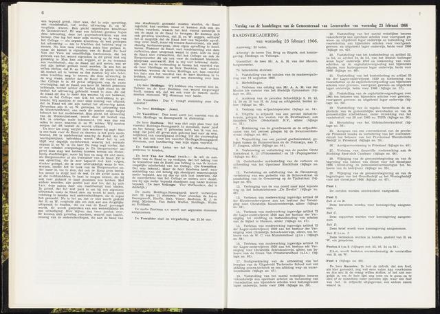 Raadsverslagen van de gemeente Leeuwarden, 1865-2007 (Notulen) 1966-02-23