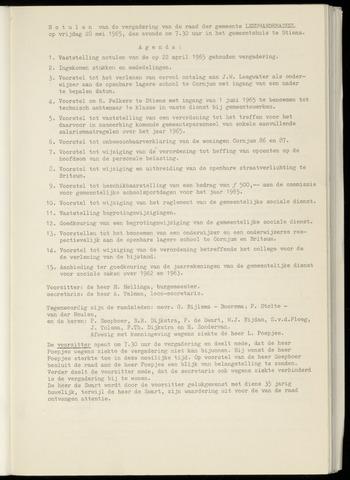 Notulen van de gemeenteraad van Leeuwarderadeel 1965-05-28