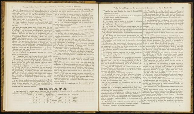 Raadsverslagen van de gemeente Leeuwarden, 1865-2007 (Notulen) 1881-03-31