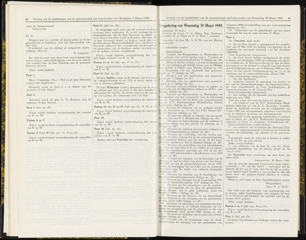 Raadsverslagen van de gemeente Leeuwarden, 1865-2007 (Notulen) 1949-03-30