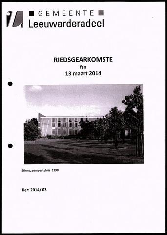 Notulen van de gemeenteraad van Leeuwarderadeel 2014-03-13