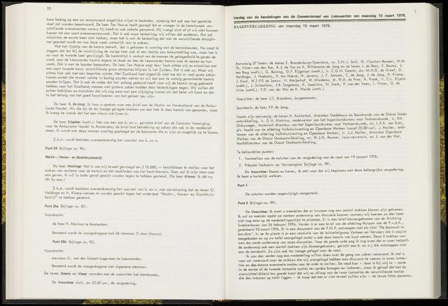 Raadsverslagen van de gemeente Leeuwarden, 1865-2007 (Notulen) 1976-03-15