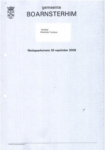 Boarnsterhim vergaderstukken gemeenteraad  2008-09-30