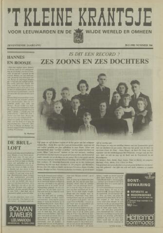 't Kleine Krantsje, 1964-1997 1981-05-30
