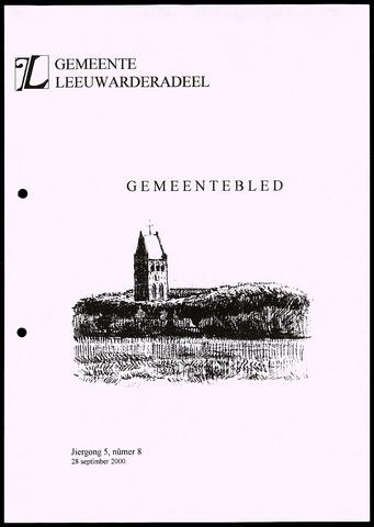 Notulen van de gemeenteraad van Leeuwarderadeel 2000-09-28