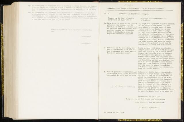 Raadsverslagen van de gemeente Leeuwarden, 1865-2007 (Schriftelijke vragen) 1956