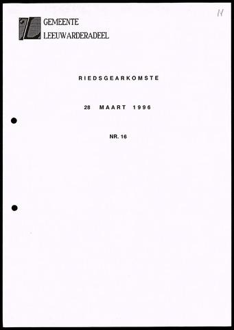 Notulen van de gemeenteraad van Leeuwarderadeel 1996-03-28