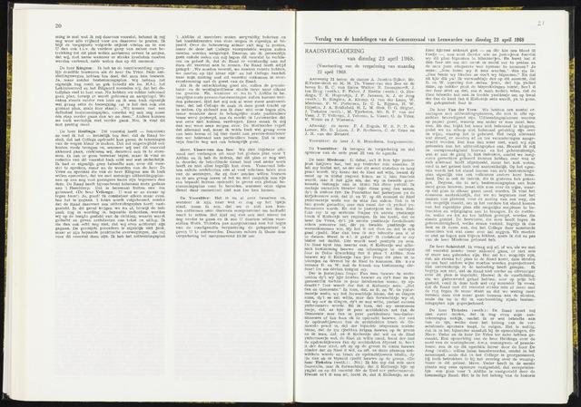 Raadsverslagen van de gemeente Leeuwarden, 1865-2007 (Notulen) 1968-04-23