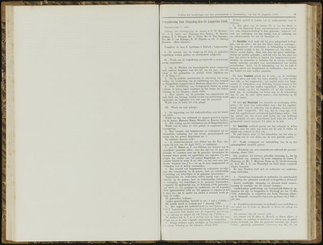 Raadsverslagen van de gemeente Leeuwarden, 1865-2007 (Notulen) 1886-08-10