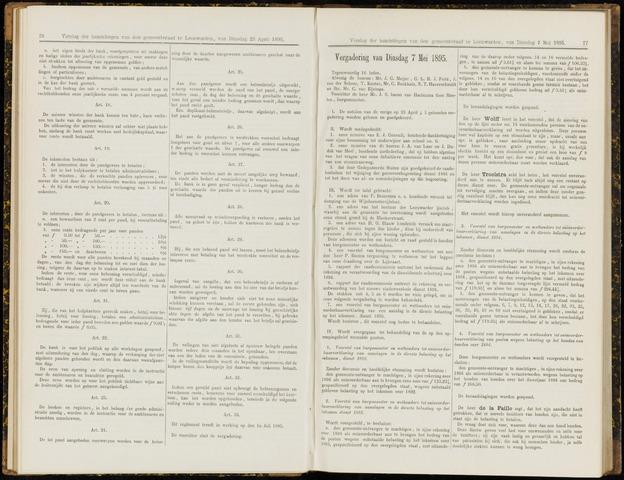 Raadsverslagen van de gemeente Leeuwarden, 1865-2007 (Notulen) 1895-05-07