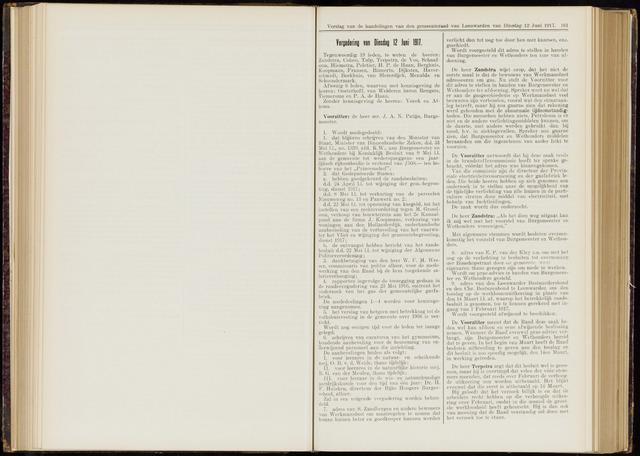 Raadsverslagen van de gemeente Leeuwarden, 1865-2007 (Notulen) 1917-06-12