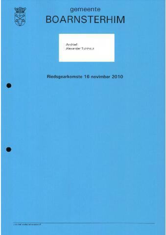 Boarnsterhim vergaderstukken gemeenteraad  2010-11-16