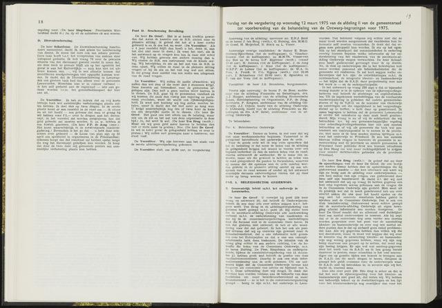 Raadsverslagen van de gemeente Leeuwarden, 1865-2007 (Notulen) 1975-03-12