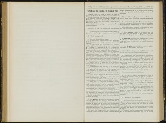 Raadsverslagen van de gemeente Leeuwarden, 1865-2007 (Notulen) 1907-12-10
