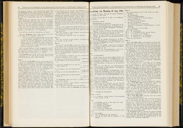 Raadsverslagen van de gemeente Leeuwarden, 1865-2007 (Notulen) 1946-08-26