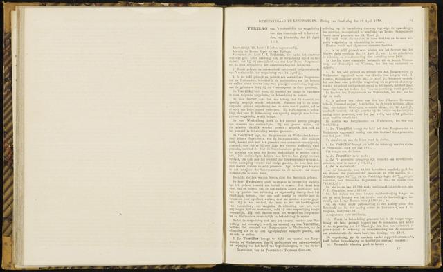 Raadsverslagen van de gemeente Leeuwarden, 1865-2007 (Notulen) 1870-04-28