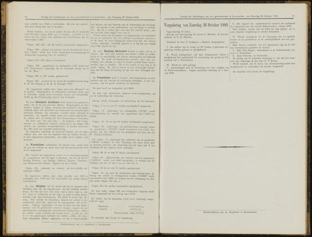 Raadsverslagen van de gemeente Leeuwarden, 1865-2007 (Notulen) 1889-10-26