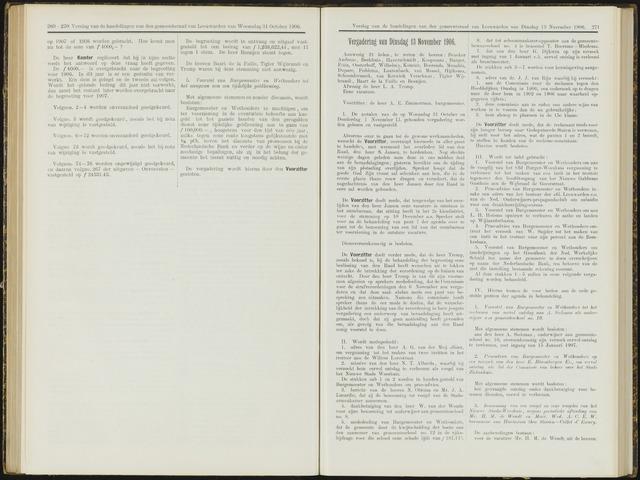Raadsverslagen van de gemeente Leeuwarden, 1865-2007 (Notulen) 1906-11-13