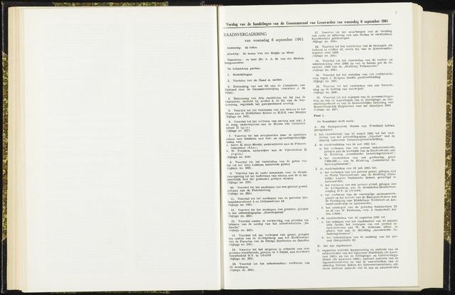 Raadsverslagen van de gemeente Leeuwarden, 1865-2007 (Notulen) 1961-09-06