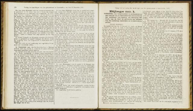 Raadsverslagen van de gemeente Leeuwarden, 1865-2007 (Bijlagen) 1881-01-01