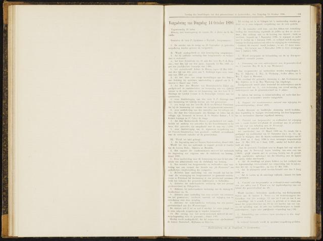 Raadsverslagen van de gemeente Leeuwarden, 1865-2007 (Notulen) 1890-10-14
