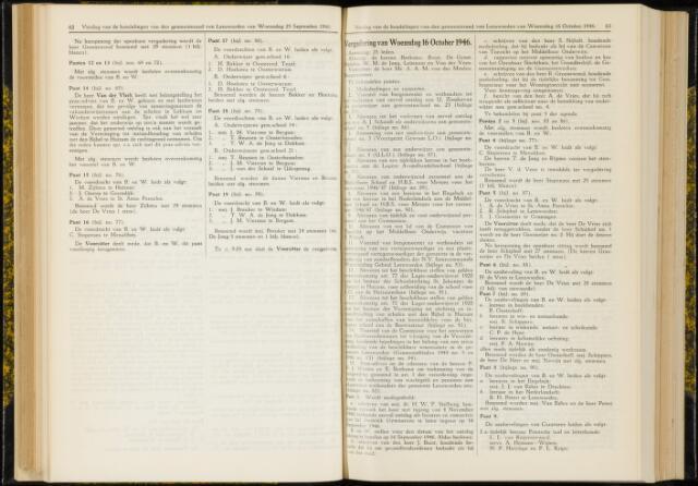 Raadsverslagen van de gemeente Leeuwarden, 1865-2007 (Notulen) 1946-10-16