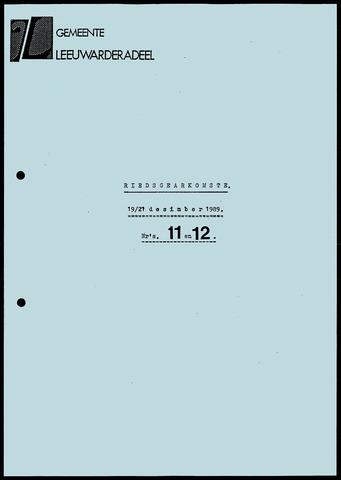 Notulen van de gemeenteraad van Leeuwarderadeel 1989-12-19