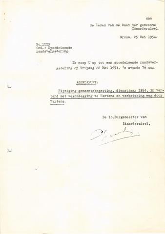 raadsverslagen Idaarderadeel 1935-1983 1954-05-28